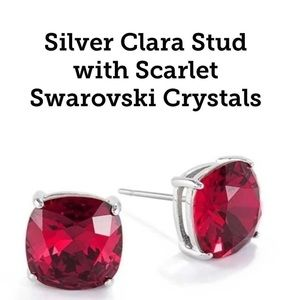 Scarlet Swarovski Clara Earrings